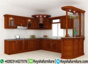 Kitchen Set Kayu Jati Model Bar