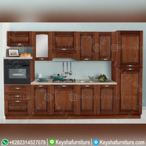 Kitchen Set Kayu Jati Minimalis